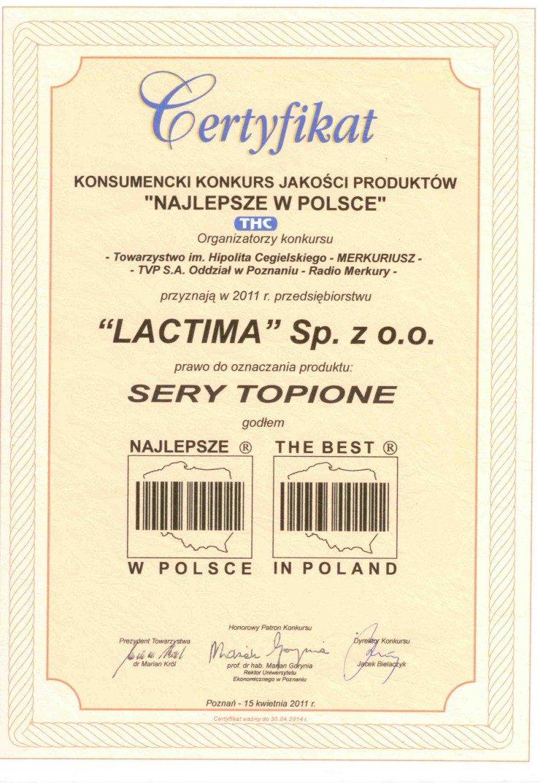 Certyfikat - KKJP - NAJLEPSZE W POLSCE
