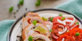 Rolady drobiowe z serem i warzywami