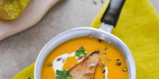 Zupa krem z dynią i gruszką