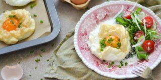 Serowe jajko chmurka ( 2 porcje )