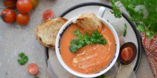 Zupa z pomidorków koktajlowych
