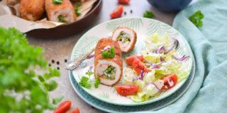 Roladki z kurczaka z brokułem, szynką i serem