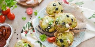 Muffinki ze szpinakiem